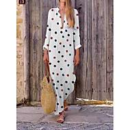Pentru femei Vintage De Bază Linie A Rochie Buline Maxi