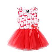 Dzieci / Brzdąc Dla dziewczynek Zwierzę Sukienka Czerwony