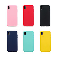tilfelle for Apple iPhone xr / iphone xs maks ultra-tynt bakdeksel solid farget mykt tpu for iPhone 6 / 6s / iPhone 6 / 6s pluss / iphone 7/8 / iphone 7/8 pluss / iphone x / xs / iphone xr / iphone xs