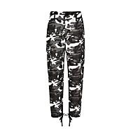 Pentru femei Șic Stradă / Militar Pantaloni Chinos Pantaloni - Imprimeu Trifoi
