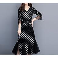 kvinners knelengde sving kjole svart s m l xl