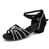 Damen Leder Schuhe für den lateinamerikanischen Tanz Absätze / Sneaker Starke Ferse Weiß / Schwarz / Hautfarben / Leistung