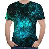 economico -T-shirt - Taglie forti Per uomo Con stampe, 3D Rotonda - Cotone Royal Blue / Manica corta