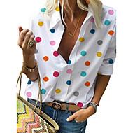 Camicia Per donna Moda città Con stampe, A pois Bianco US16