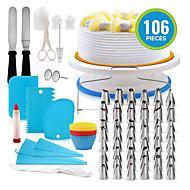 billige -100stk Silikon Plast Rustfritt stål Multifunktion GDS Kake Til Småkake Multifunktion Bake & Mørdeigs Verktøy Bakeware verktøy