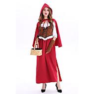 Le petit Chaperon rouge Costume de Cosplay Bal Masqué Adulte Femme Cosplay Halloween Halloween Fête / Célébration Métissé Coton / Polyester Rouge Foncé Femme Déguisement Carnaval