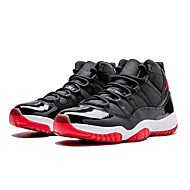 cheap -Men's Light Soles Leather / PU Spring & Summer / Fall & Winter Sporty Basketball Shoes Basketball Shoes Breathable Black / Black / White / Black / Red / Athletic / Non-slipping / Shock Absorbing