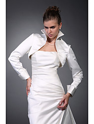 Long Sleeves Satin Bridal Jacket / Wedding Wrap (WSM0412)