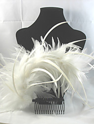 cheap -Feather Alloy Hair Combs Headpiece Elegant Classical Feminine Style