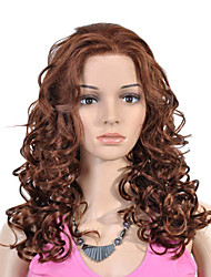 cheap -Synthetic Lace Front Wig Curly Synthetic Hair 16 inch Wig Women's Lace Front