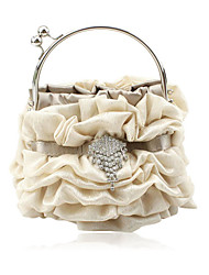 cheap -Gorgeous Satin Shell Evening Handbags/ Clutches/ Top Handle Bags More Colors Available