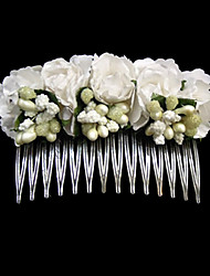 cheap -Stainless Steel Paper Hair Combs 1 Wedding Special Occasion Casual Headpiece