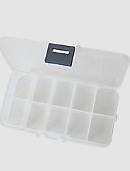 Makyaj Depolama Kozmetik Kutusu 14.0×7.5×3.3 Fildişi