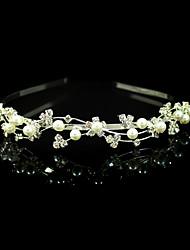 baratos -Cristal Imitação de Pérola Tecido Liga Tiaras Headbands 1 Casamento Ocasião Especial Festa / Noite Capacete