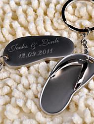 Inox Porte-clés Favors-6 Piece / Set Porte-clés Thème de plage Personnalisé Argent