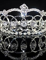 billige -smukke rhinestones legering bryllup brude Tiara / medaljon