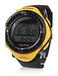 Da uomo Orologio sportivo Orologio alla moda Orologio da polso Energia solare LED Resistente all'acqua Energia solare Gomma BandaCasual