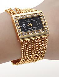 baratos -Mulheres Relógio de Pulso Venda imperdível Banda Amuleto / Fashion Dourada / Um ano / SSUO SR626SW