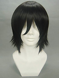 Parrucche Cosplay Cosplay Lelouch Lamperouge Nero Corto Anime Parrucche Cosplay 32 CM Tessuno resistente a calore Uomo