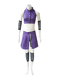 Inspired by Naruto Ino Yamanaka Anime Cosplay Costumes Cosplay Suits Patchwork Sleeveless Vest Sleeves Waist Accessory Leg Warmers Shorts