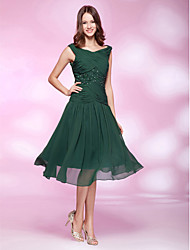 A-Line V-neck Knee Length Chiffon Party Dress with Beading by TS Couture®