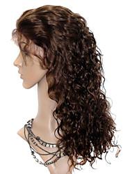 hesapli -Peruk stil Hintli Saçı Peruk Kadın's Şort Orta Uzun Gerçek Saç Örme Peruklar / Dalgalı