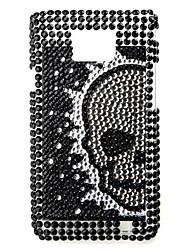Skelett-Muster Schutzhülle für Samsung i9100 (black)
