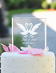 お買い得  -ケーキトッパー ガーデンテーマ クラシックテーマ ハート 夫妻 クリスタル 結婚式 記念日 ブライダルシャワー 〜と ギフトボックス