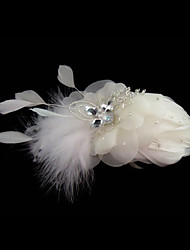 cheap -Feather Fascinators / Flowers with 1 Wedding / Special Occasion Headpiece