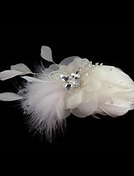 billige -Fjer fascinators / Blomster med 1 Bryllup / Speciel Lejlighed Medaljon
