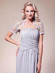 cheap -Short Sleeve Lace Wedding / Party Evening Women's Wrap With Lace Shrugs