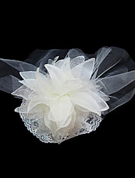 cheap -Women's Satin Tulle Headpiece-Wedding Special Occasion Fascinators Flowers
