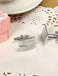 Groom Groomsman Zinc Alloy Cufflinks & Tie Clips Wedding Anniversary Birthday