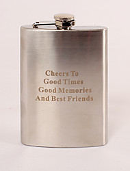Gift Groomsman Personalized Stainless Steel 8-oz Flask