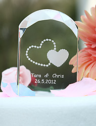 cheap -Cake Topper Garden Theme Hearts Classic Couple Crystal Wedding Anniversary Bridal Shower with Gift Box