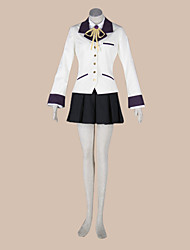 cheap -Inspired by Angel Beats Kanade Tachibana Anime Cosplay Costumes Cosplay Suits School Uniforms Patchwork Long Sleeves Coat Shirt Skirt