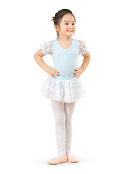 cheap -Kids' Dancewear / Ballet Dresses Training Cotton Lace Short Sleeves High