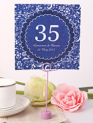 cheap -Personalized Square Table Number Card - Purple World