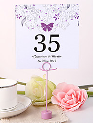 cheap -Pearl Paper Table Number Cards Poly Bag Placecard Holders Wedding Reception