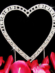 cheap -Cake Topper Garden Theme Classic Theme Classic Couple Hearts Wedding Anniversary Bridal Shower With Rhinestone OPP