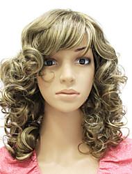 preiswerte -Synthetische Perücken Locken / Klassisch Stil Kappenlos Perücke Synthetische Haare 16 Zoll Damen Perücke