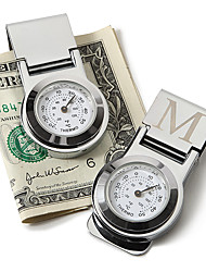 Gift Groomsman Personalized Money Clip With Themometer