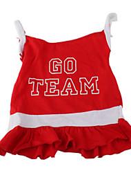 Chien Robe Vêtements pour Chien Respirable Sportif Lettre et chiffre Rouge Costume Pour les animaux domestiques