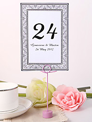 cheap -Personalized Table Number Card - Decorative Design