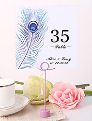 cheap -Pearl Paper Table Number Cards 10 Poly Bag Wedding Reception Beautiful