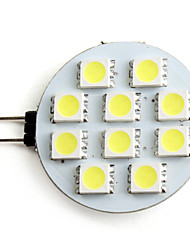 2W G4 Focos LED 10 SMD 5050 160 lm Blanco Natural 5500K K DC 12 V