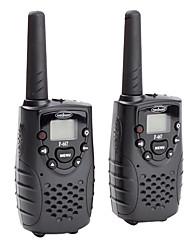 22 canali premium GMRS frs walkie-talkie (range 5 km, 2-pack, nero)