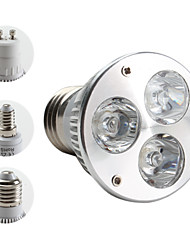 E14 GU10 E26/E27 LED Spotlight MR16 PAR38 3 High Power LED 270lm Warm White 3000K AC 85-265V