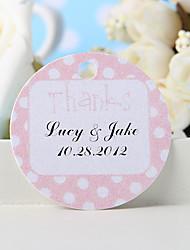"baratos -etiqueta de favor personalizada - rosa ""obrigado"" (conjunto de 36) favores de casamento"