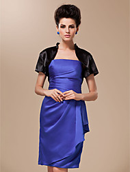 Short Sleeves Silk Satin Wedding Party Evening Wedding  Wraps Shrugs